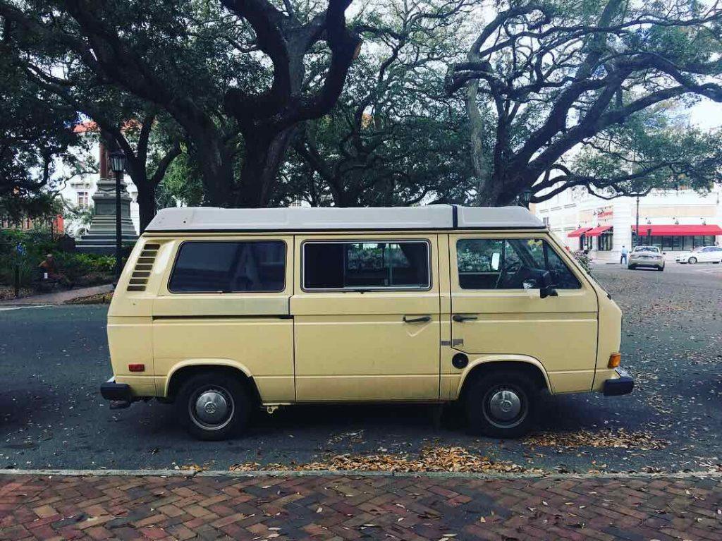 Financial Freedom Book Tour Van in Savannah