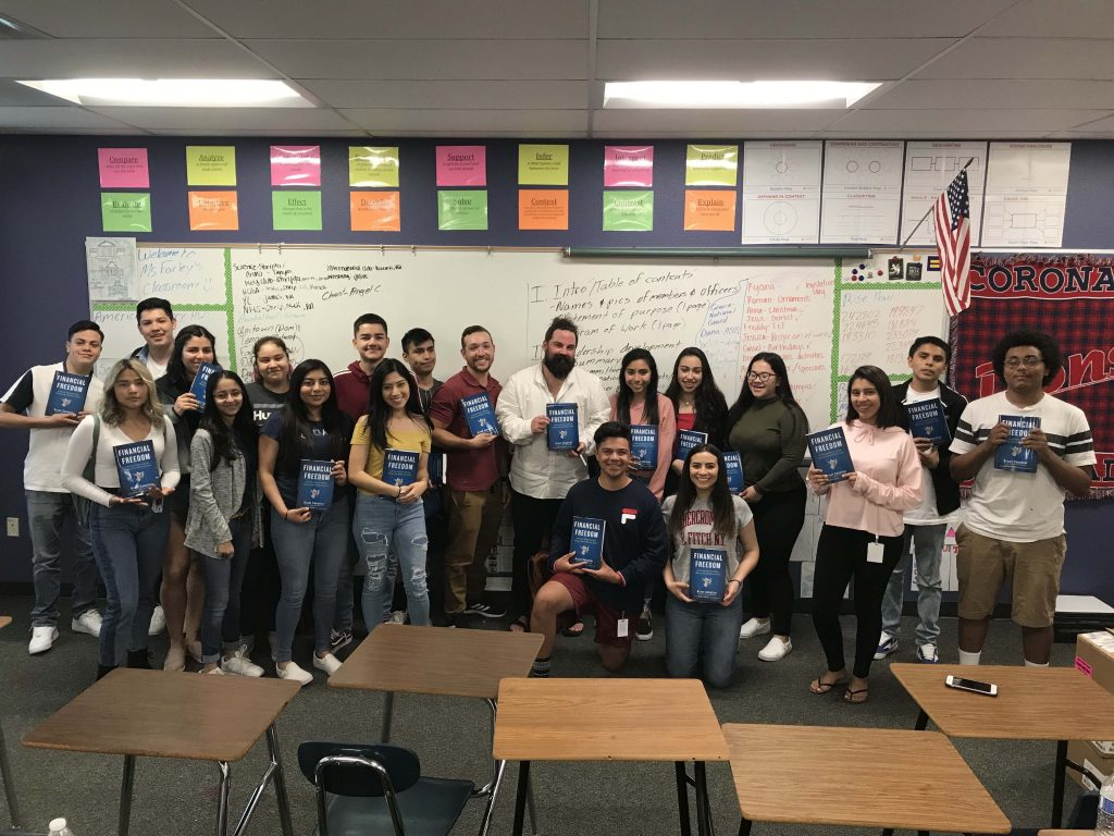 Financial Freedom Book Tour Coronado High School